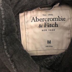 Abercrombie & Fitch Shirts - M abercrombie  and fitch hoodie dark gray